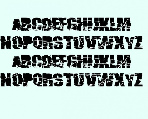 Fabulous Broken 74 Font