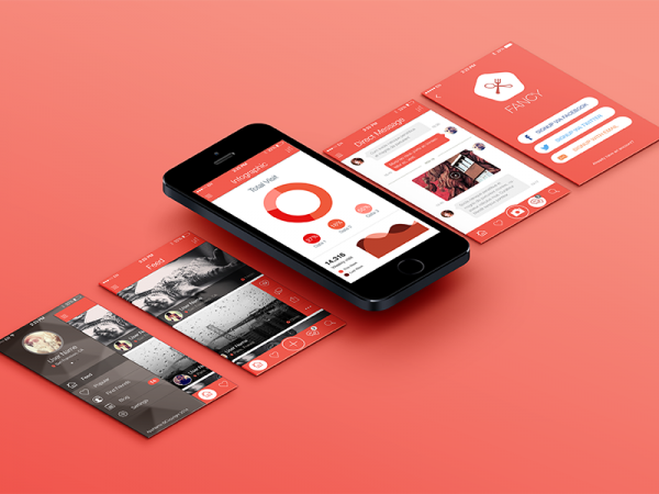 Fancy Mobile App p UI Mockup