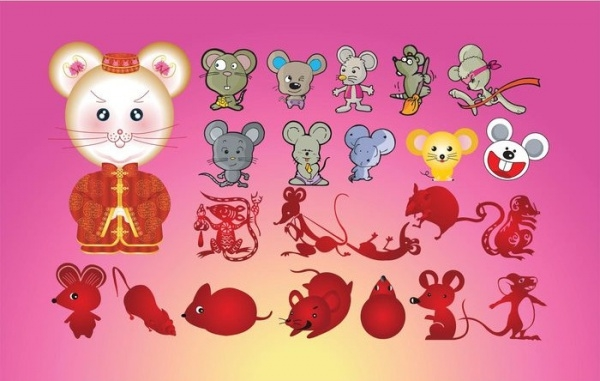 Fantasy Mice Vector Cartoons