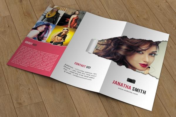 Fashion Photography Tri-fold Brochure