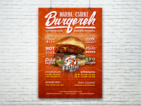 Fatcat Burger Flyer Template