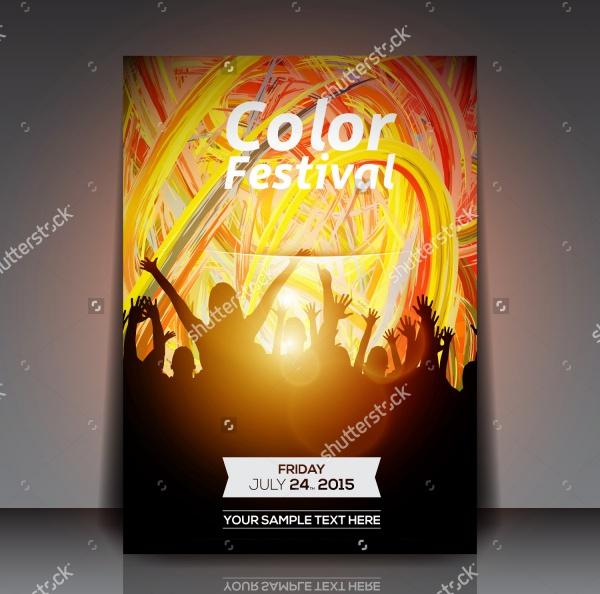 Festival Party Flyer - Vector Design