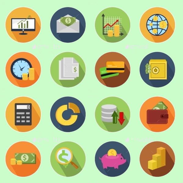 Finance Circle Icons