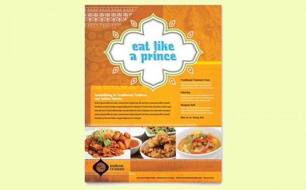 Fine Indian Restaurant Flyer