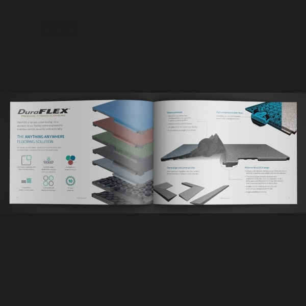 Fitness Flooring Brochure Design