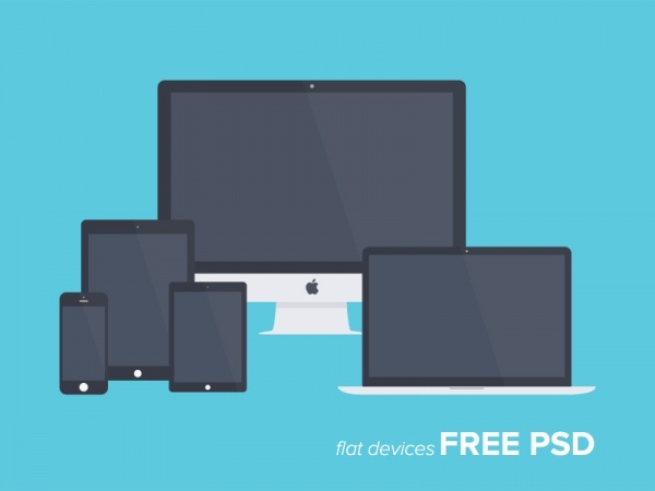 Flat Devices Screen Mock-up