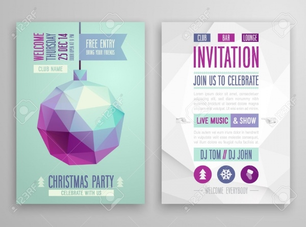 Flat Geometric Style Christmas Flyer