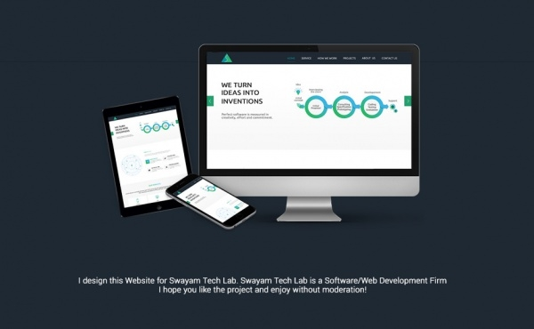Flat Responsive Website Design Mock-up