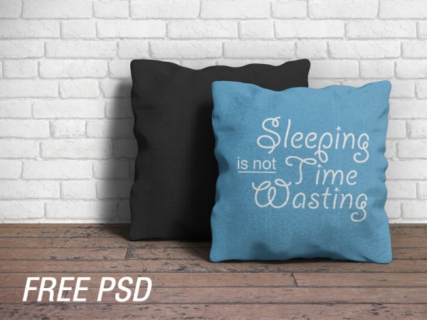 flat sleeping pillow mockup