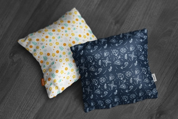 flat square pillow mockup
