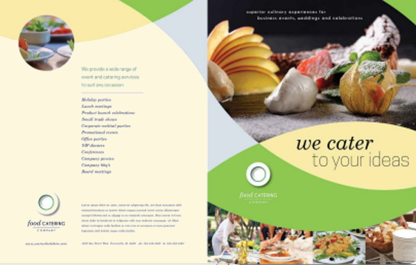 25 catering brochure template psd vector eps jpg for Free food brochure templates