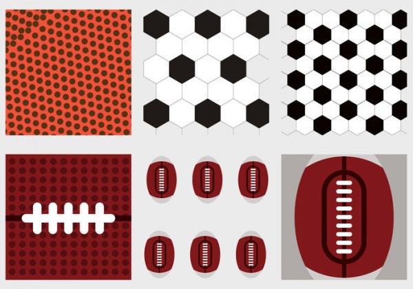 Footbal Texture Vector