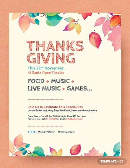 25 Thanksgiving Flyer Designs Psd Jpg Ai Illustrator