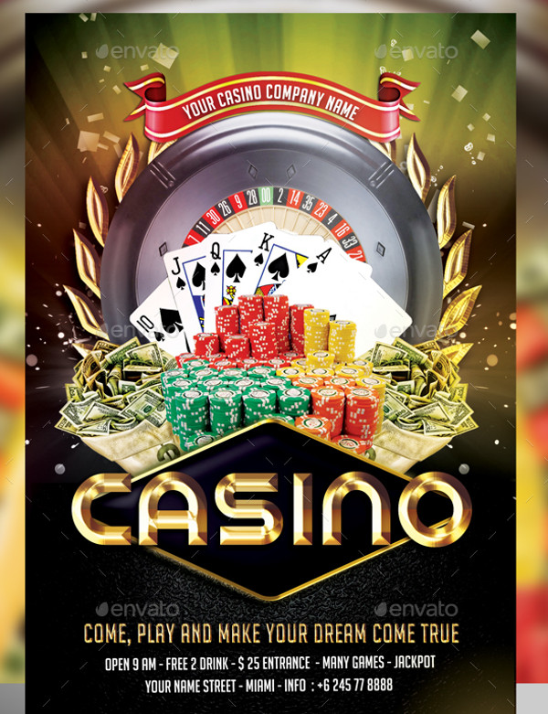 Fully Editable Casino Flyer Template