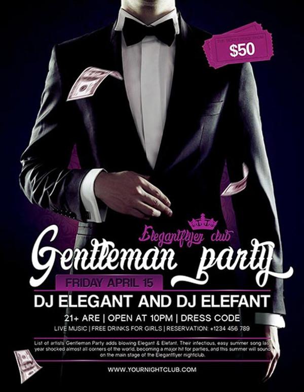 Gentleman Anniversary Party Flyer