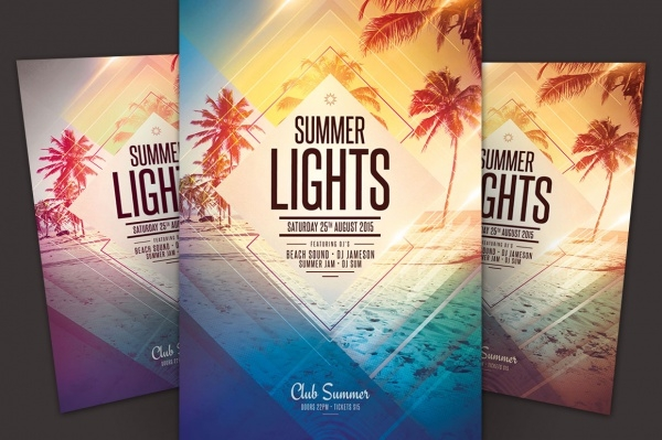 Geometric Summer Lights Flyer