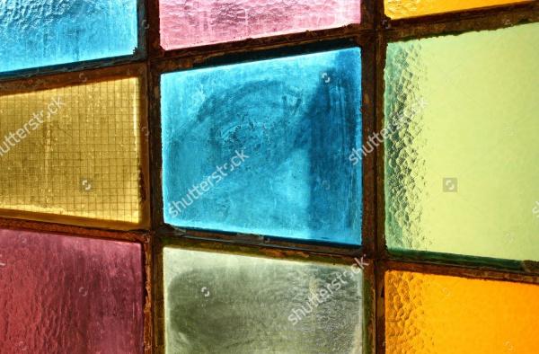 Glass Door Seamless Pattern