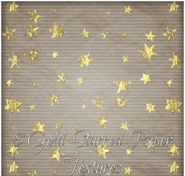 Gold Star Paper Texture