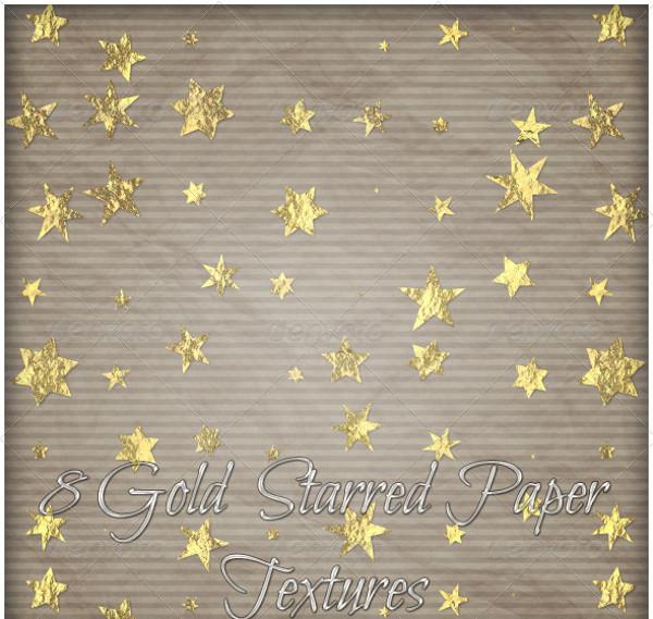 Gold Star Paper Texture