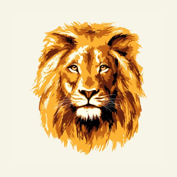 Golden Lion Vector Download