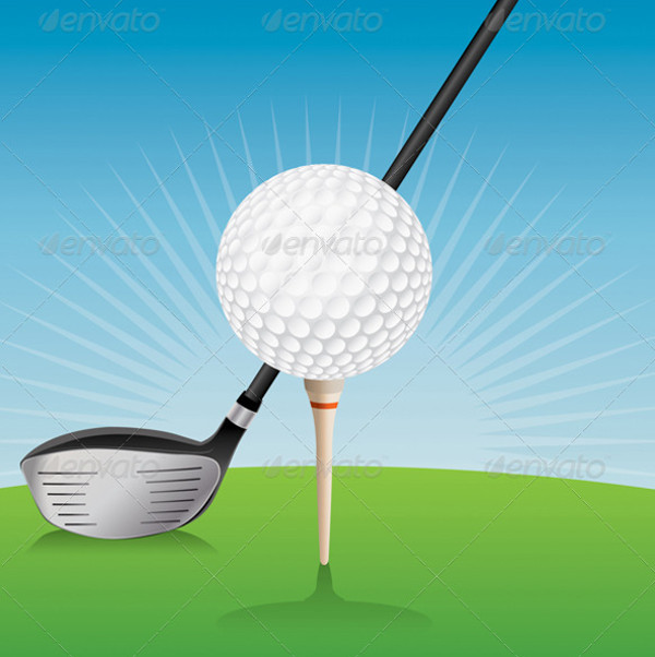 Golf Cartoon Design Vector