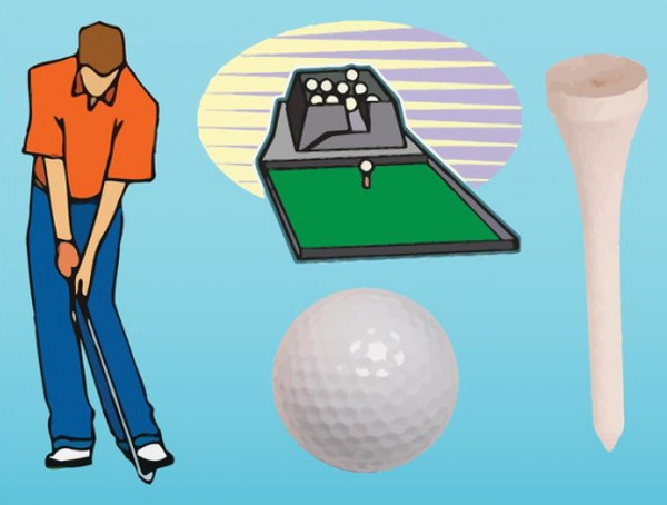 Golf Club Player Vector