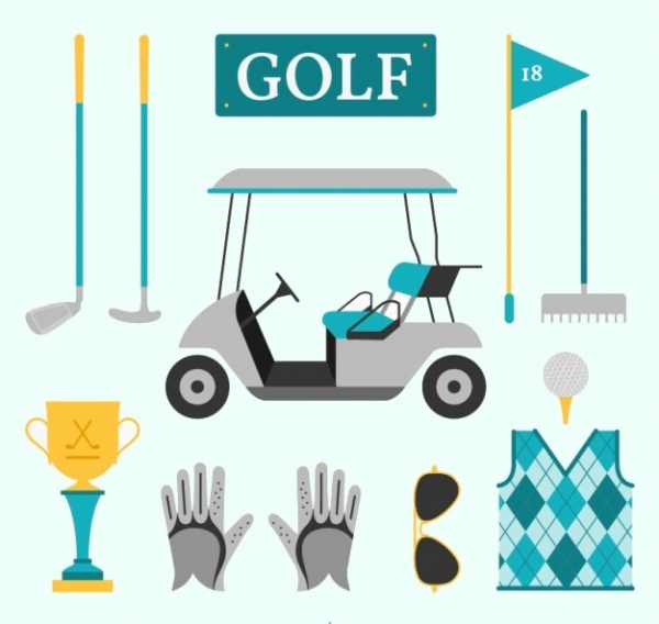 Golf Equipment Championship Vector