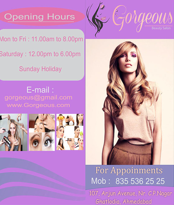 Gorgeous Beauty Salon Brochure
