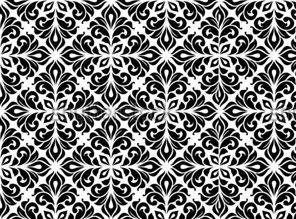 Gothic Pattern With floral Elements