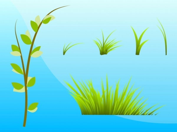 Grass And Plants Vector Art