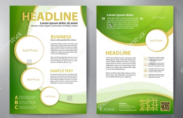 Green Brochure design a4 template.