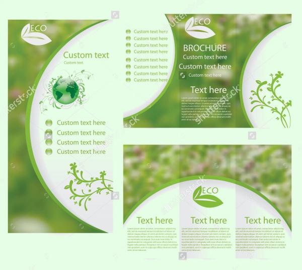 Green Environmental Brochure Layout