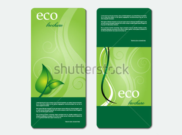 Green eco promotion brochure