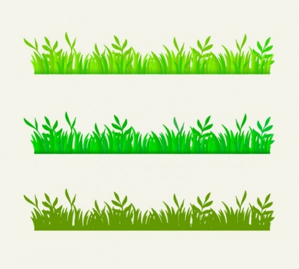 Green grass border Vector