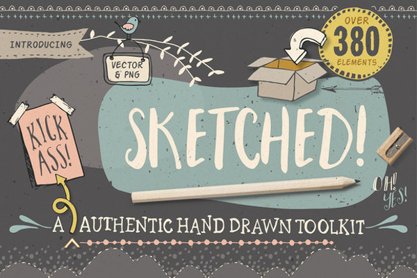 Grungy Typography Sketch Font
