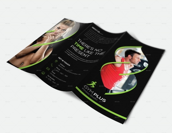 Gym-Fitness Trifold Brochure