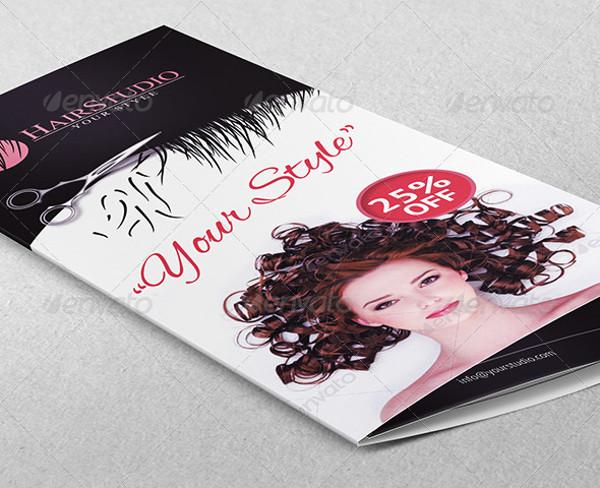 Hair Salon Trifold Brochure