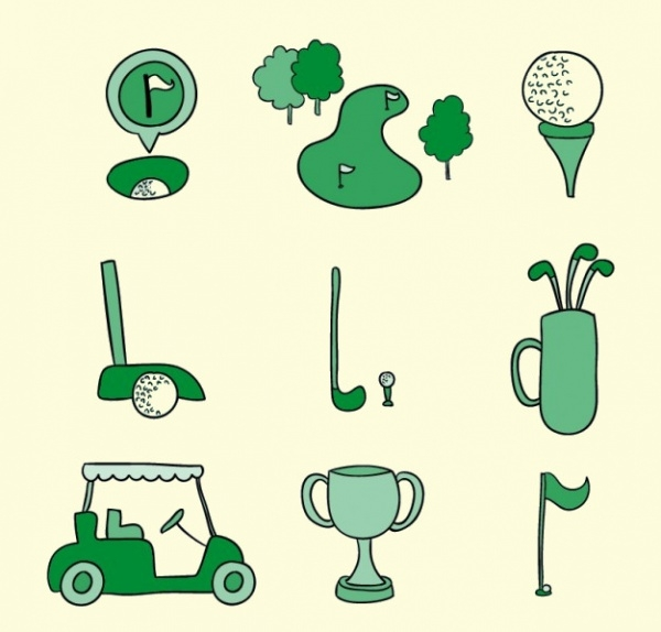 Hand Drawn Golf Vector
