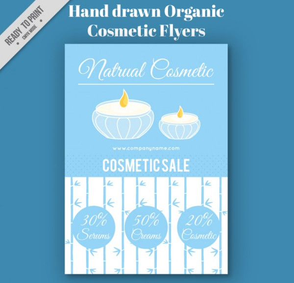 Hand Drawn Organic Cosmetic Flyer