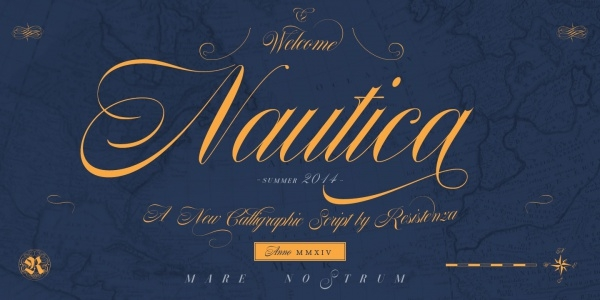 Hand Lettered Nautica Font