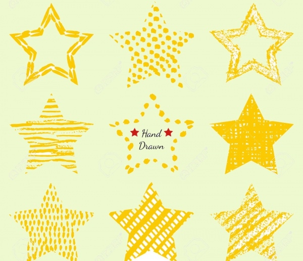 Hand-drawn Star Shapes Textures