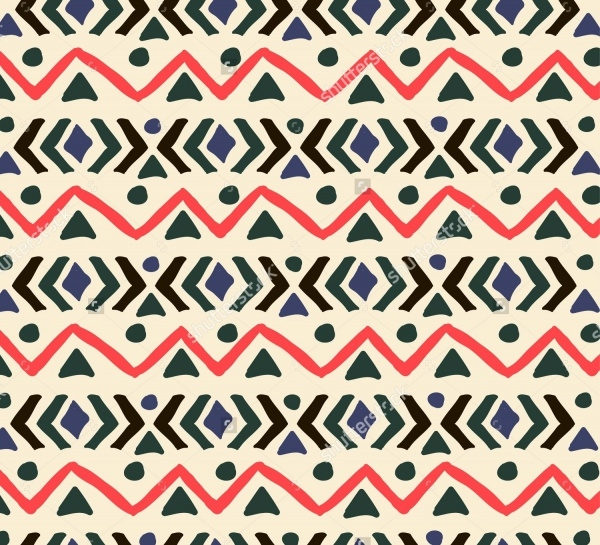 Hand drawn navajo Patternn