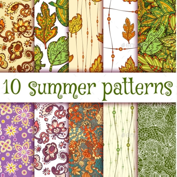 Handmade Seamless Summer Patterns