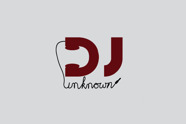 Handwritten Headphones Dj Logo