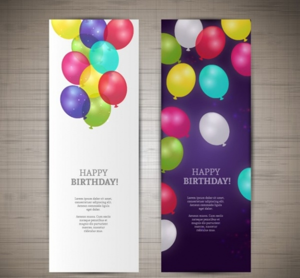Happy Birthday Celebration Banners