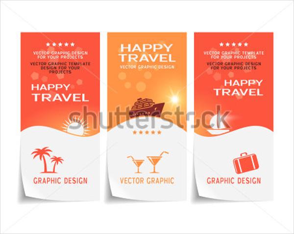 Happy Travel Poster Sticker Flyer