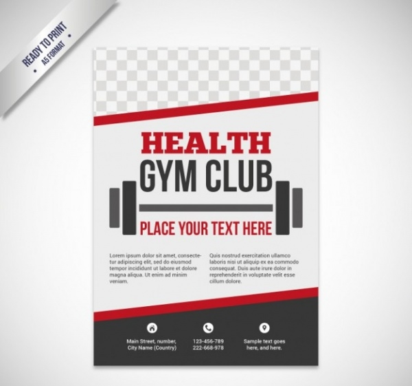 Health gym club Brochure