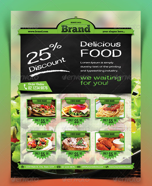 Food Flyer Templates  Psd Vector Eps Jpg Download