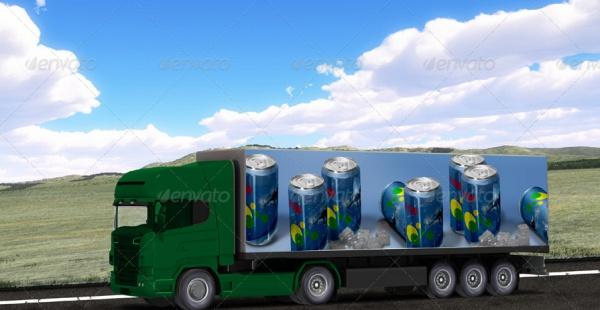 Heavy Truck PSD Advertising Mock-up