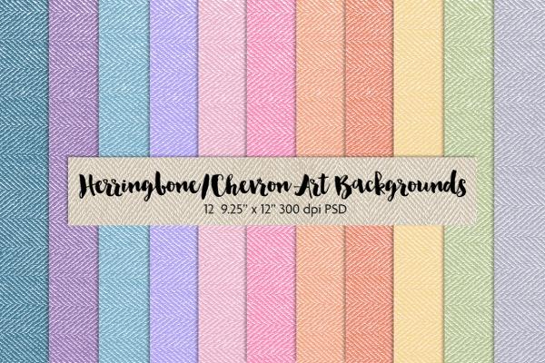 Herringbone/Chevron Art Texture